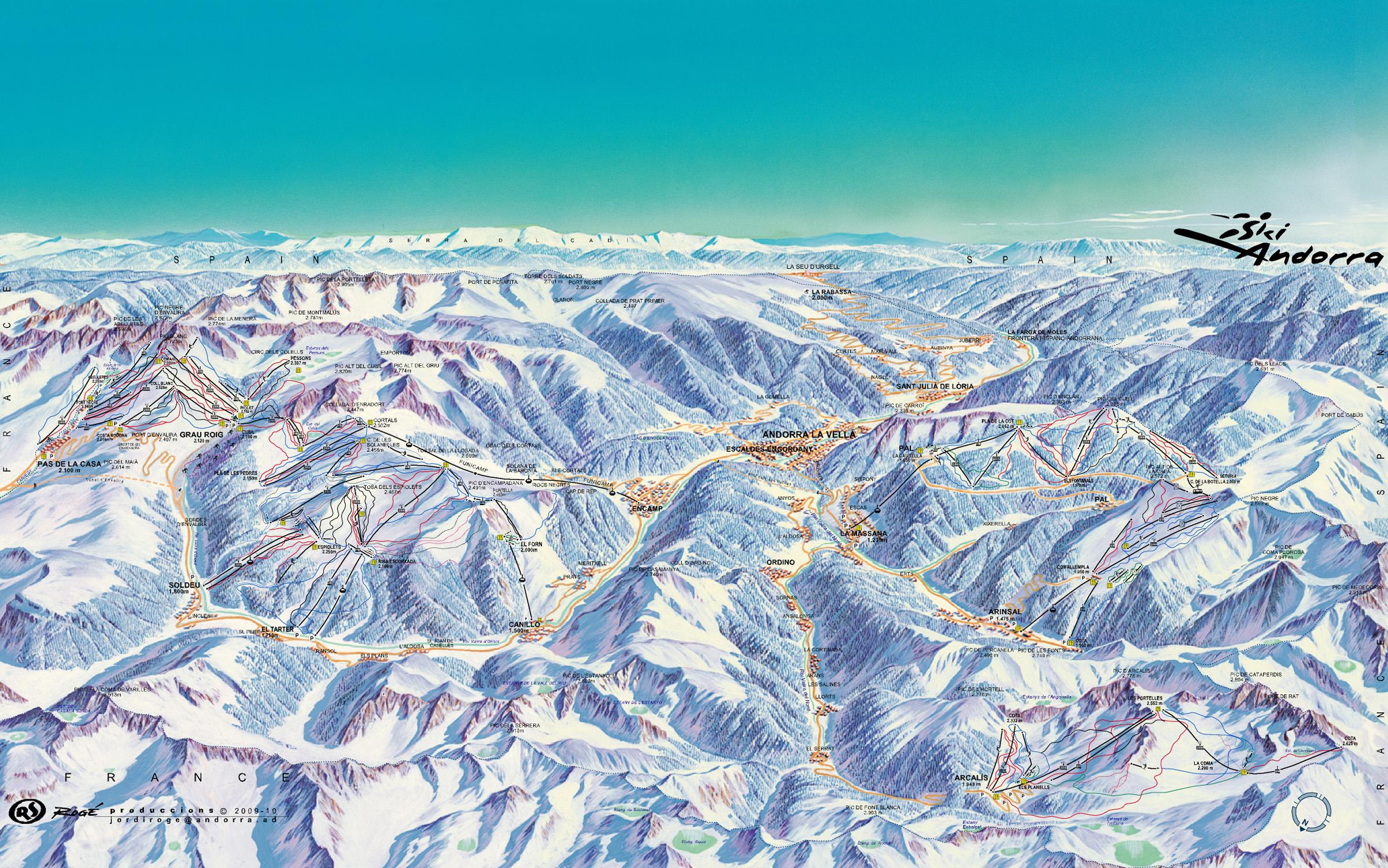 Andorra Ski Maps And Slopes All Andorra