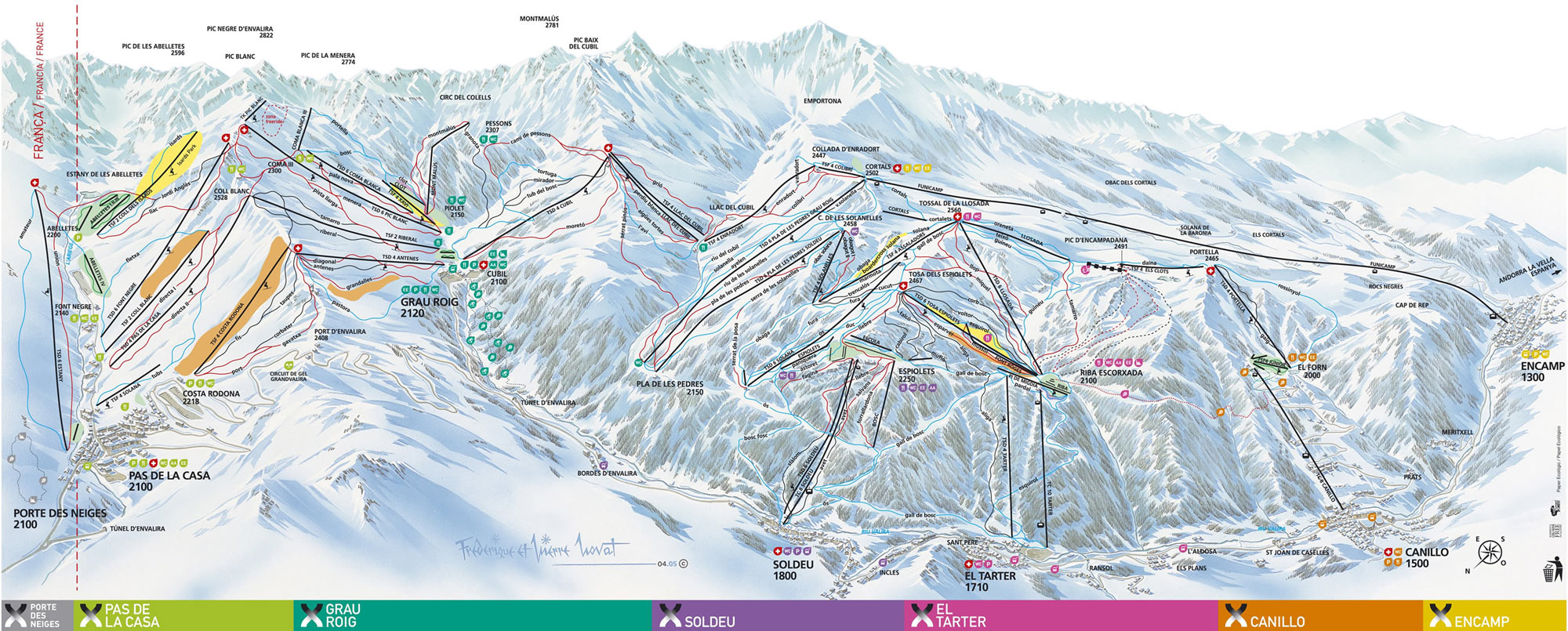 Andorra ski maps and slopes ALL ANDORRA