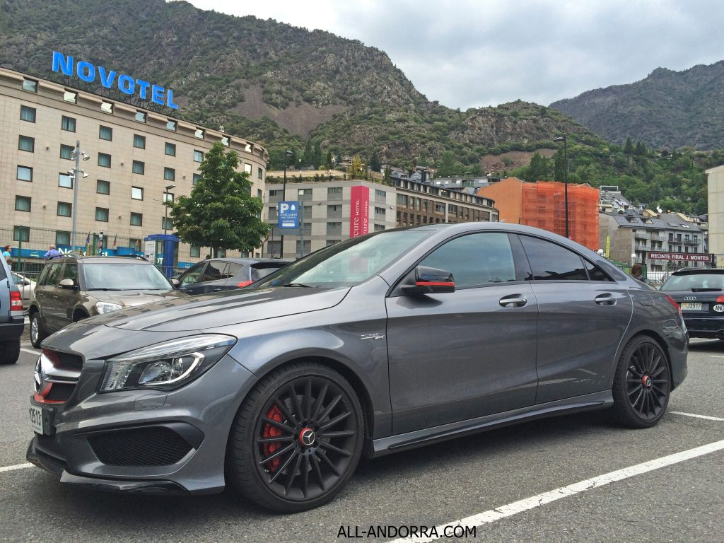 mercedes benz cla 45 amg grey color all andorra. Black Bedroom Furniture Sets. Home Design Ideas