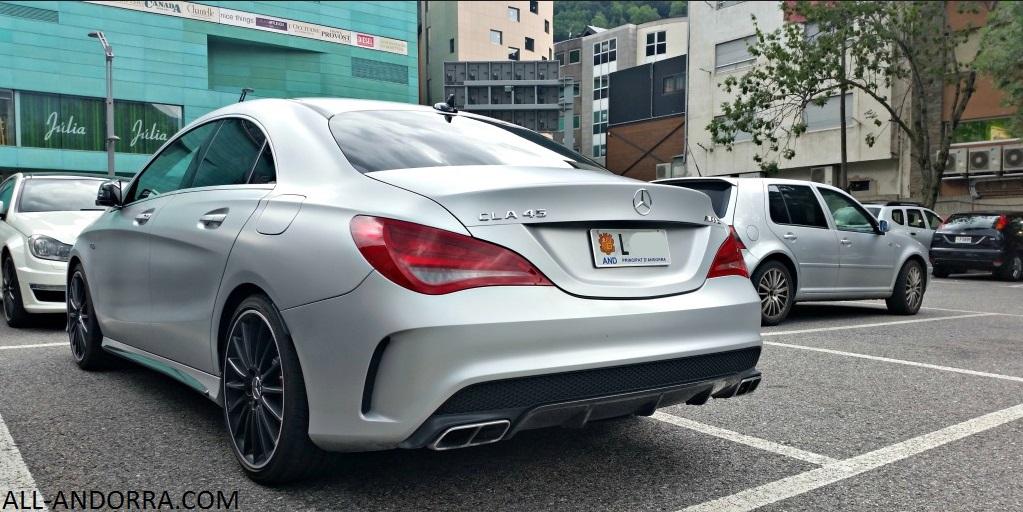 Mercedes CLA 45 AMG silver color