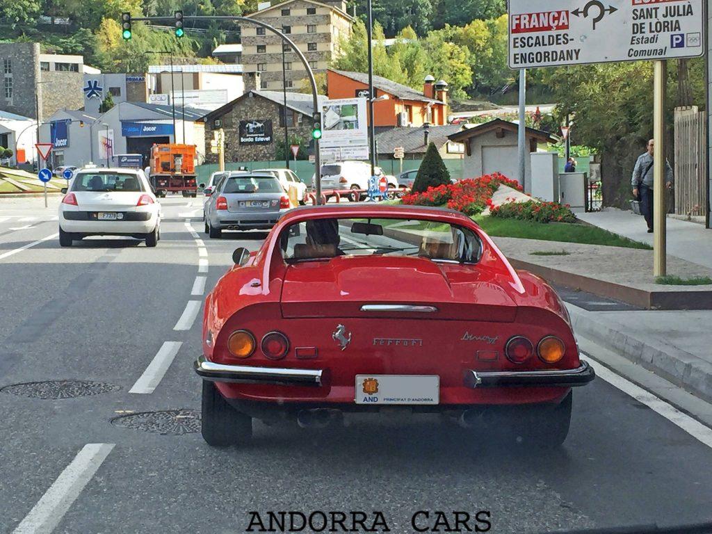 Ferrari DINO red color