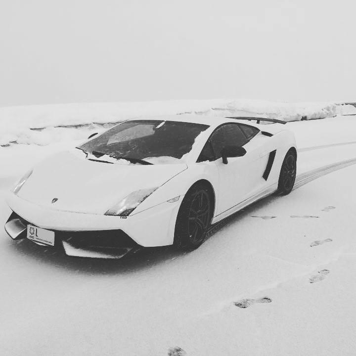 Lamborghini on the snow