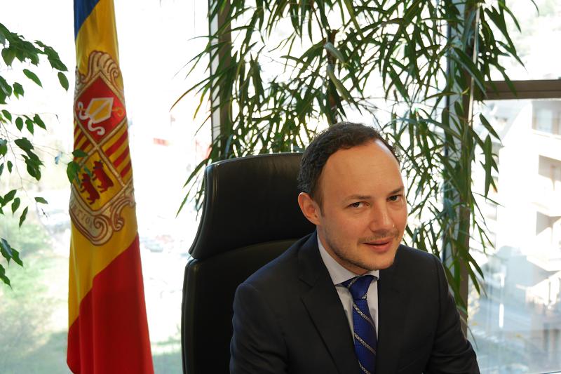 Minister of internal affairs of Andorra Xavier Espot Zamora