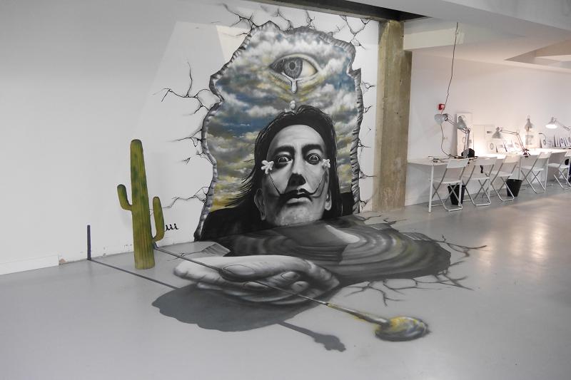 Salvador Dalí graffiti