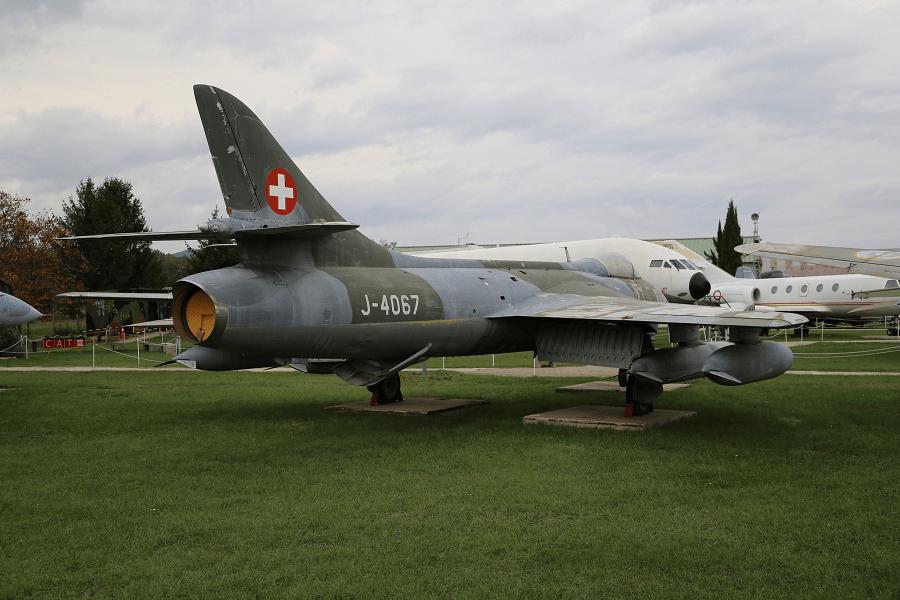 Hawker Hunter FGA.9 с двигателем Rolls-Royce AVON 207 ВВС Швейцарии