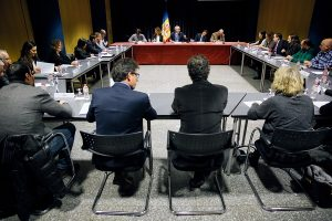 réunion avec les chefs des partis politiques d'Andorre