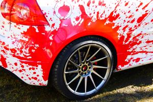 VW golf graffiti