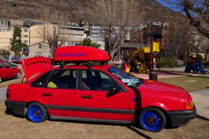 VW passat red