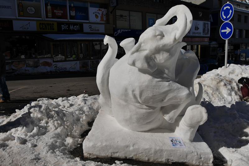 éléphant de la neige