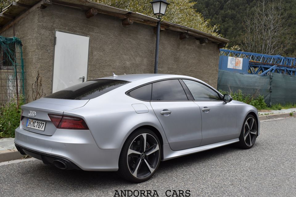 Silver Audi RS ALL ANDORRA - Rs7 audi