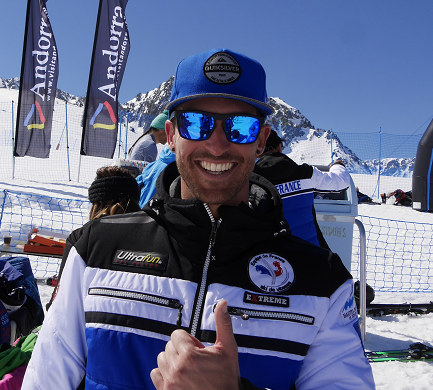 Crystal globe for the Speed Skiing World Cup 2017 Bastien Montes