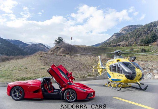 Ferrari la Ferrari rouge hélicoptère