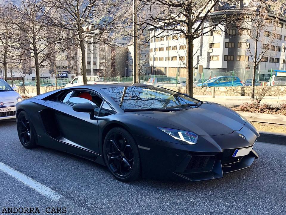 Lamborghini Aventador Lp700 4 Black Mat All Andorra
