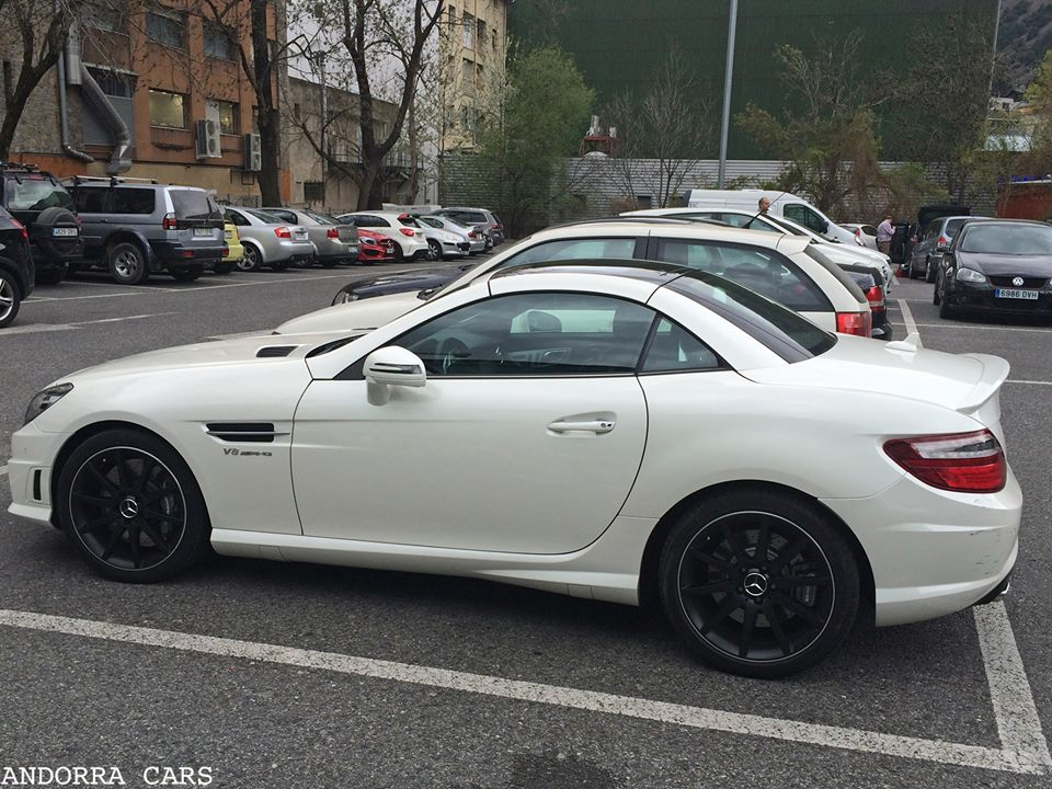 mercedes benz slk 55 amg v8 white color all andorra. Black Bedroom Furniture Sets. Home Design Ideas