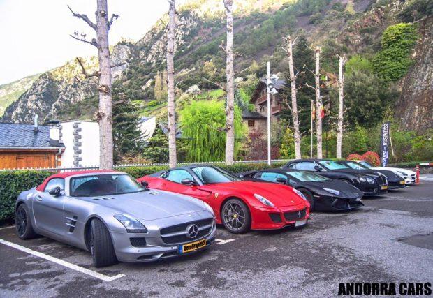 Mercedes SLS AMG Roadster, Ferrari 599 GTO, Lamborghini Aventador Roadster, Bentley Continental GTC V8S, Porsche 991 Carrera 4S MKII i Mercedes SLS AMG Roadster