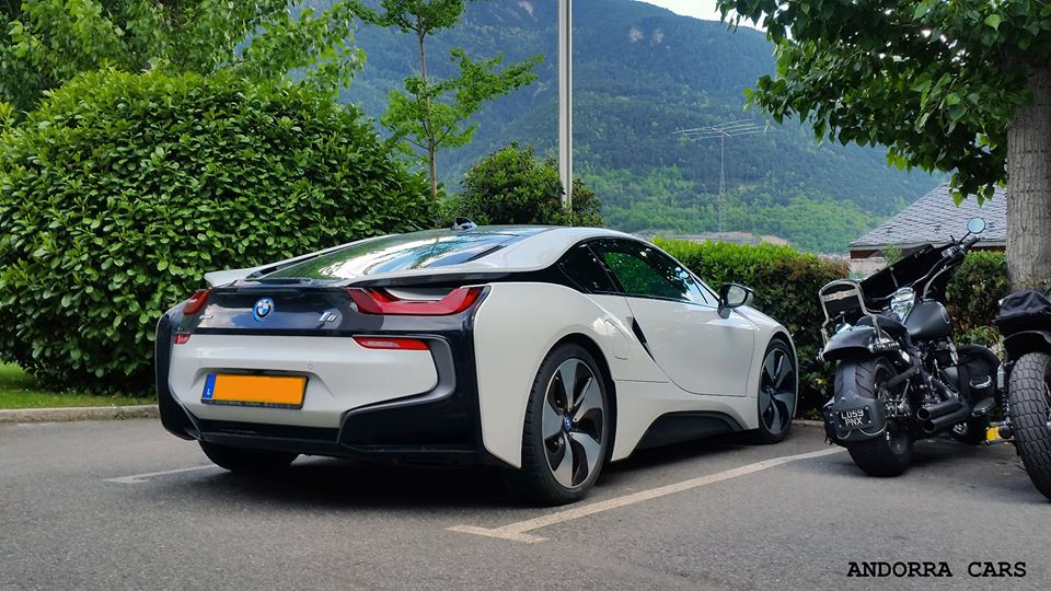 bmw i8 black and white b w all andorra