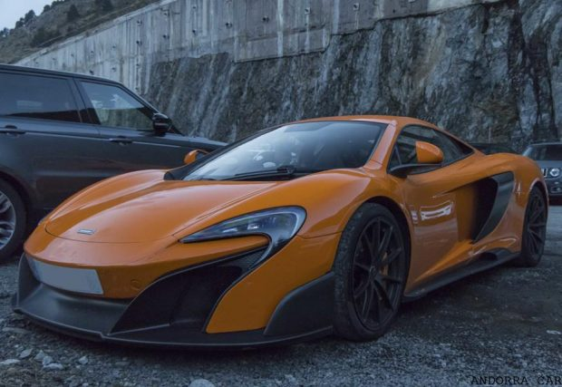 McLaren 675LT orange color
