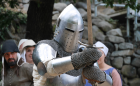Europe history reconstruction_Middle Ages_Andorra_knight_armor_helmet