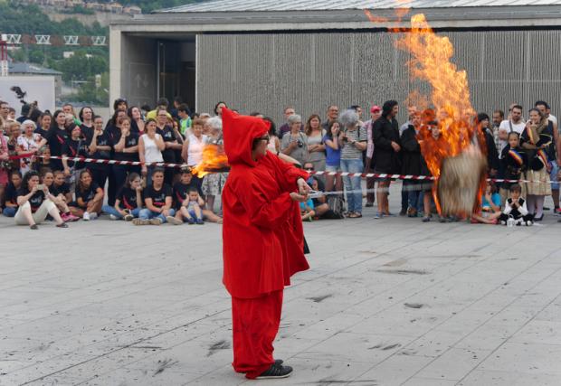 Sant-Joan, fête du feu. Andorre-la-Vieille 23.06.2017