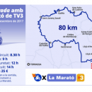 "A charity motorcycle race ""80 km in solidarity with La Marató de TV3"" (the annual marathon of Barcelona) takes place in Catalonia on 3d December"