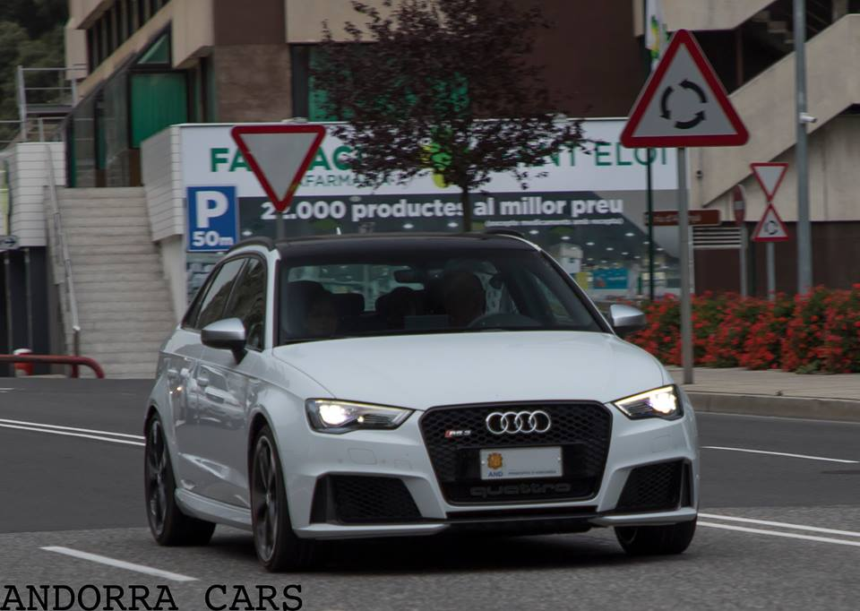 AUDI RS White Color ALL ANDORRA - All white audi