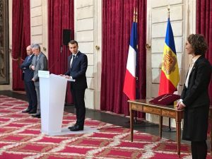 French President And Co Prince Andorra Emmanuel Macron Called On Diplomats From Different Countries To Develop And Strengthen Bilateral Cooperation With Andorra All Pyrenees France Spain Andorra