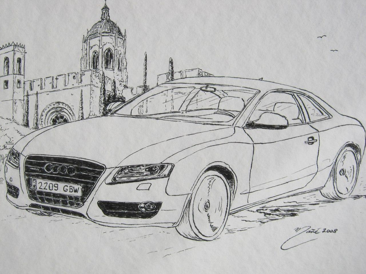 АУДИ А5: рисунок чернильной ручкой от Жоана Манье • ALL ...