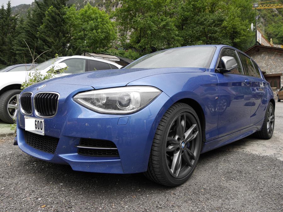 BMW M 135 I : couleur bleue