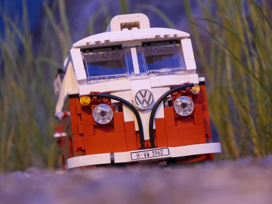 Volkswagen T1 Transporter : jouet de Lego Creator 10220. Version rouge et blanche