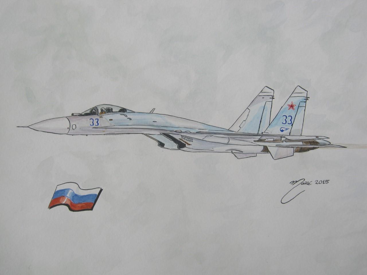 Combat aviation: Su-27 (NATO classification: Flanker)  A twin-engine
