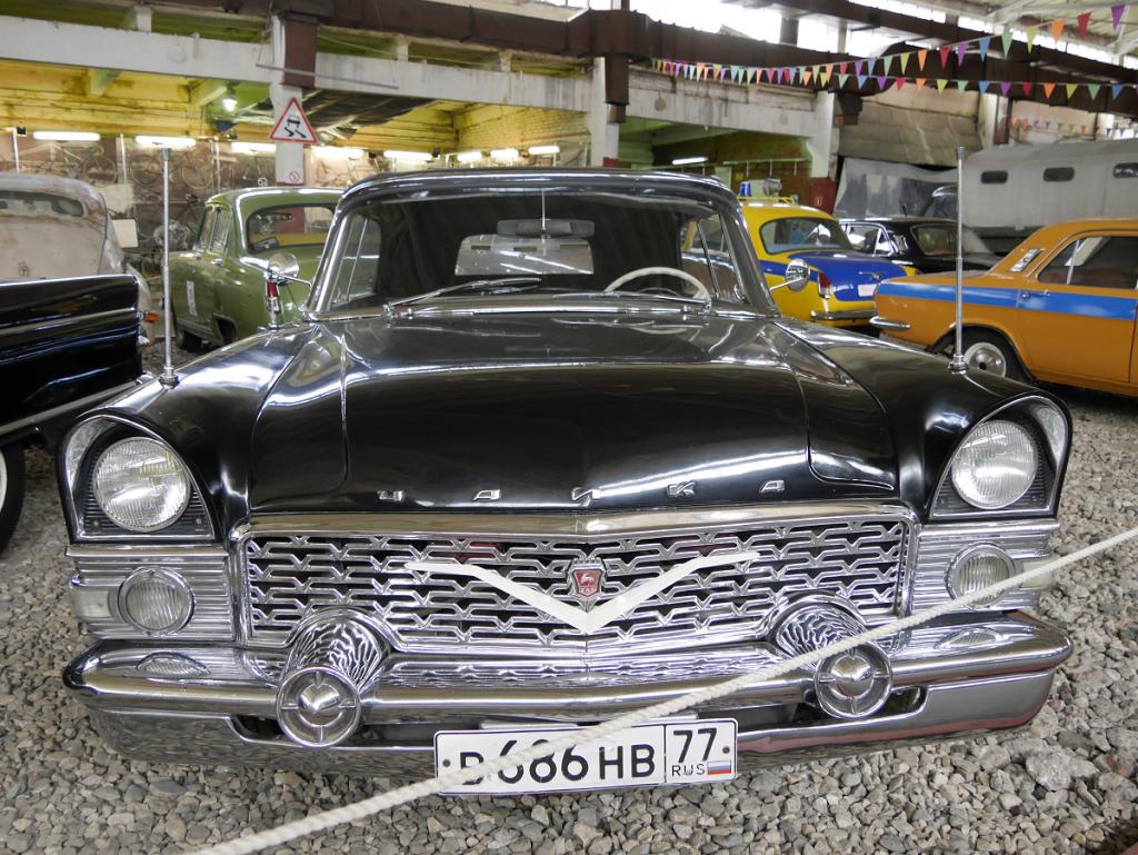 "GAZ 13 ""Chayka"" (Seagull) convertible. Black version"