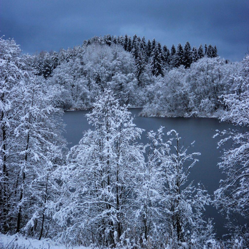 lac Somino Valday hiver