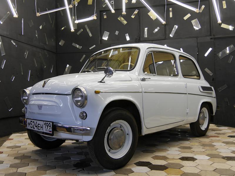 """ZAZ 965 Zaporozhets """"Gorbatiy"""" (Bossu) : voiture légendaire d'URSS_version blanche"""