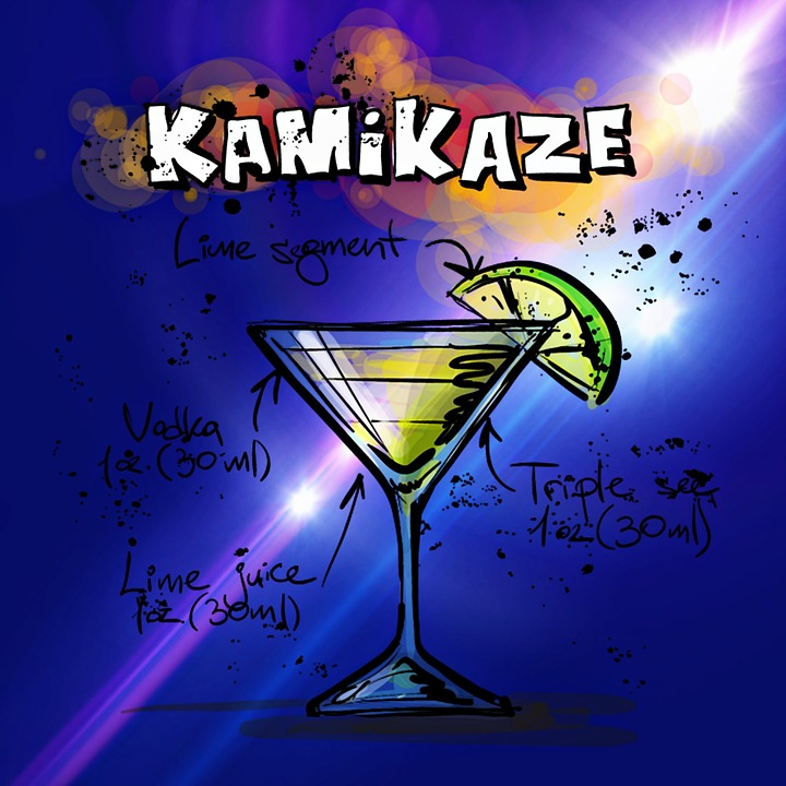 """Com fer """"Kamikaze"""" - un còctel japonès?"""
