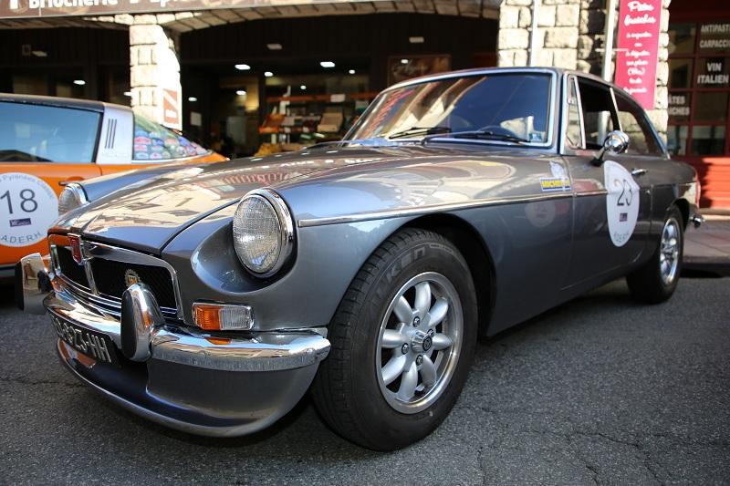 Серый MGB GT образца 1970 года