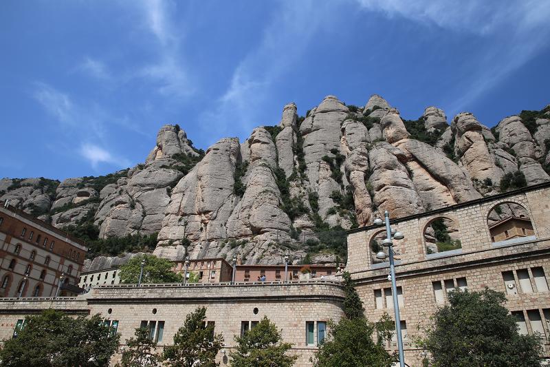 Le monastère de Montserrat, Catalogne