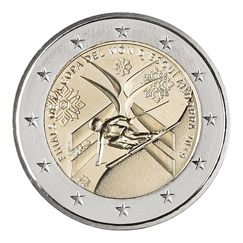 In honor of the World Cup in Alpine Skiing, which will be held in Andorra, the government of the principality issued a special coin