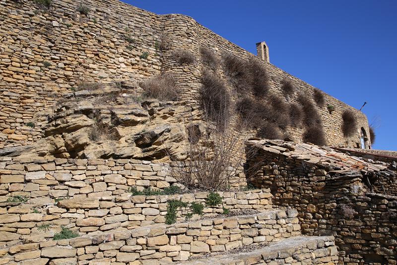 Les vestiges du château d'Àger Espagne