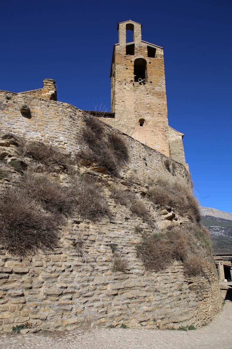 Les vestiges du château d'Àger Catalogne