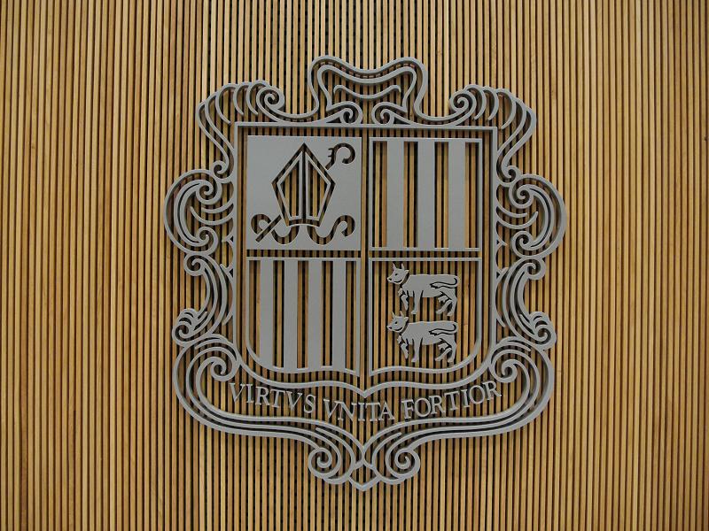 L'escut d'armes del Principat d'Andorra