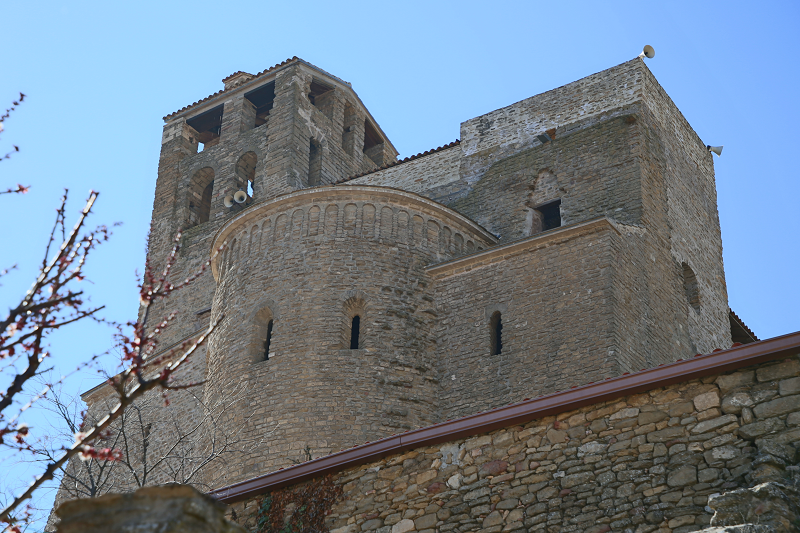 Les vestiges du château d'Àger