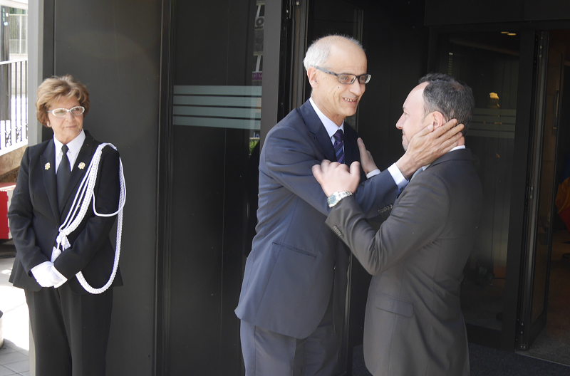 Antoni Martí has expressed his best wishes to the new head of government