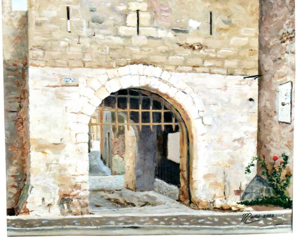 Ворота Сан Жорди в Монблане (Испания). Масло на холсте Жоана Манье