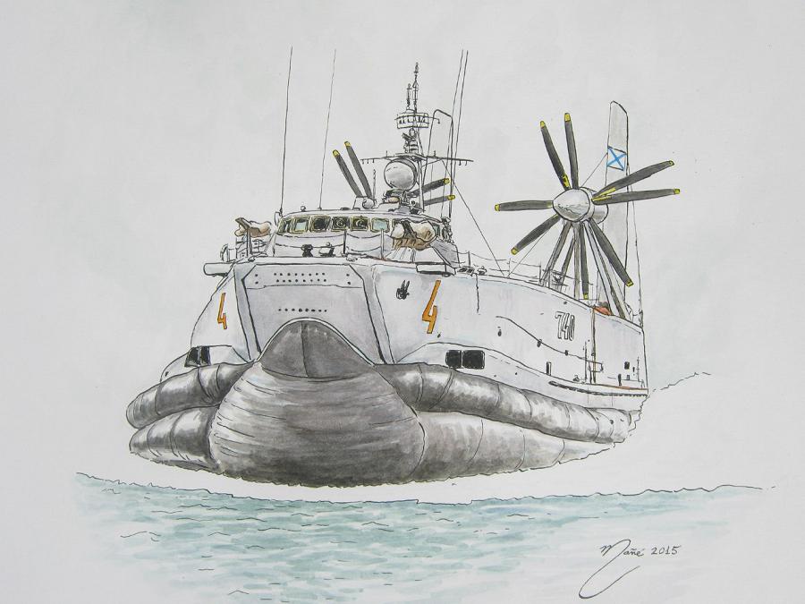 Класс «Аист» (код НАТО; российский проект 12321 «Джейран»): первый крупный штурмовой корабль на воздушной подушке, эксплуатируемый ВМФ СССР