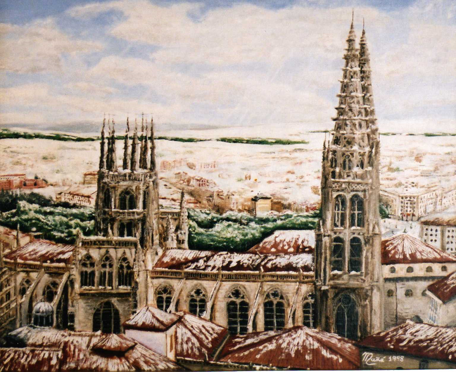 Кафедральный собор Святой Марии в Бургосе. Холст и масло Жоана Манье