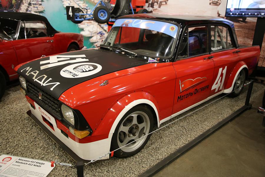 Красный Москвич 412 МАДИ. Версия ралли