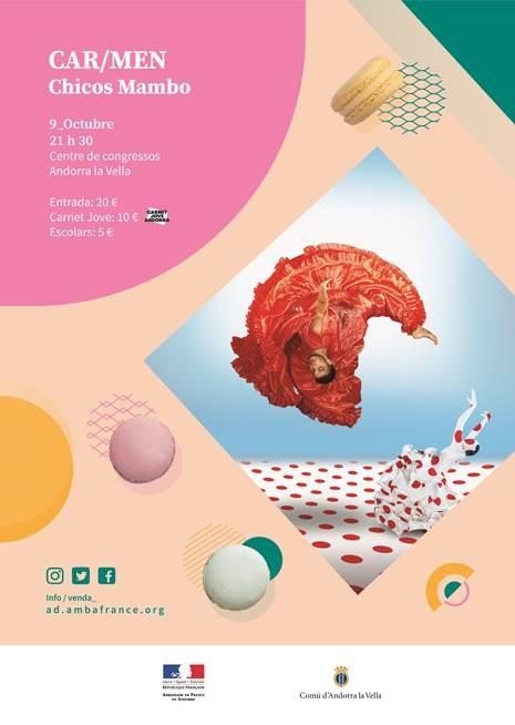 """Els CHICOS MAMBO presenten el seu espectacle """"CAR / MEN"""" dimecres 9 d'octubre a les 21:30 al Centre de Congressos d'Andorra la Vella"""