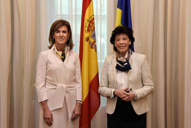 The Minister of Education of Andorra, Ester Vilarrubla, meets with her counterpart in Madrid