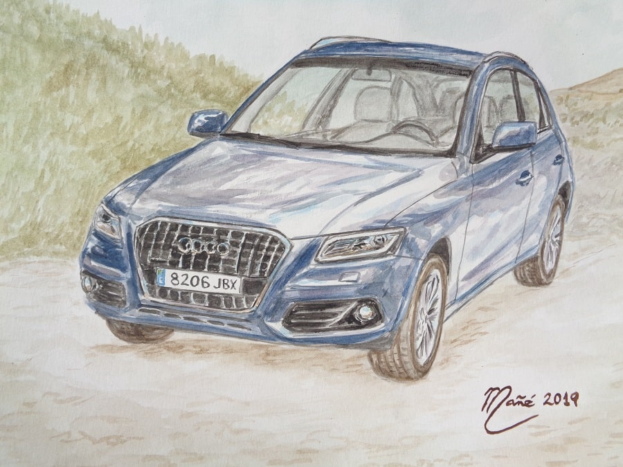 AUDI Q5 (any 2008). Aquarel·la de Joan Mañé