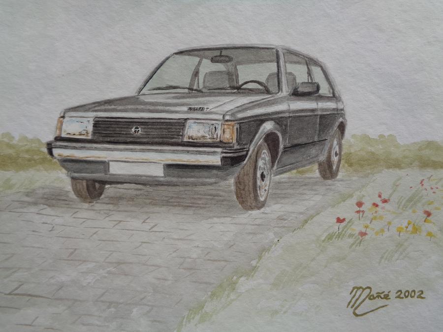 Simca-Talbot Horizon (1977). Técnica aquarel.la. Dibuix de Joan Mañé